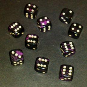 12mm Oblivion Spot Dice - Purple